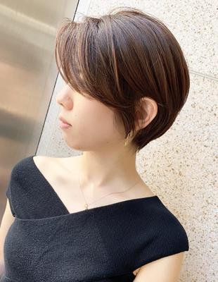 オトナのお洒落ヘア 前髪長めハンサムショート(OM-97)