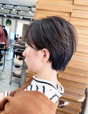 毛流れパーマ ナチュラルショート(OM-154)