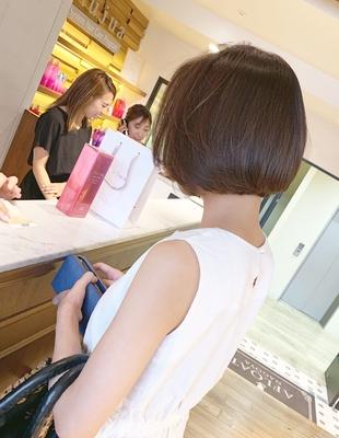 前髪長めのナチュラルボブ(OM-309)
