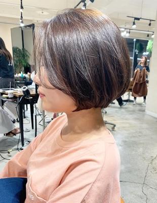 前髪長めのショートボブ(OM-330)