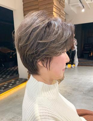 白髪も上品に染める ミセスショート(OM-360)