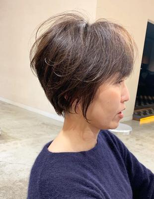 白髪のお悩みもお任せ!ミセスショート(OM-393)