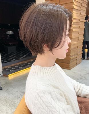 前髪長めのショートヘア(OM-406)