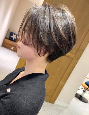前髪長めのくびれショート(OM-419)