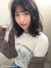 「鎌倉」小顔ふわミディ切りっぱなしミディ 9