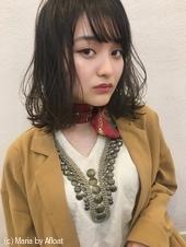 「鎌倉」きりっぱなし外ハネボブ流しめシースルーバング12