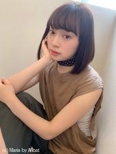 【山田】前下がりストレート小顔ナチュラルボブディy38
