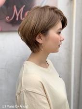 【山田】流しバング丸みひし形ショートボブディy54
