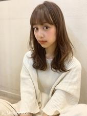 【山田】ラフウェーブ外ハネセミディy70