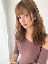 【山田】小顔無造作ヘルシーレイヤーゆるふわウェーブy74