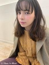 【山田】透け感たっぷりシースルーバングゆるふわセミディy76