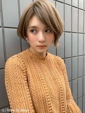 【山田】ブランジュ外ハネショートボブディ流しバングy83