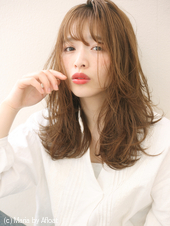 【重山祐亮】小顔バングナチュラルカールセミディ♪S81
