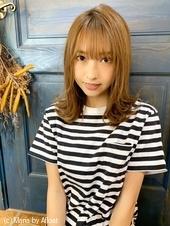 【重山】外ハネレイヤー小顔バングミディ♪S123