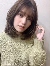 【重山】小顔ひし形セミディ♪S173