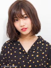 【添田】大人かわいい切りっぱなしボブ似合わせカットグレージュ