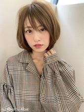 【添田】小顔にみせるミニマムボブジグザグバング3Dカラーs-26