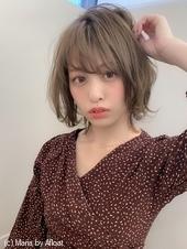 【添田】大人かわいいヘルシーレイヤーボブひし形イルミナカラーs-38