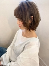 【添田】大人かわいいボブイルミナカラーヘルシーレイヤーひし形s-42