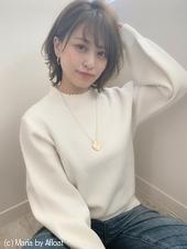 【添田】小顔にひし形大人かわいいボブイルミナカラーs-43