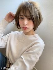 【添田大人かわいいひし形ボブディヘルシーレイヤー無造作カールs-53