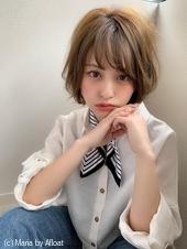 【添田】大人菱型丸みショート束感カールヘルシーレイヤーs-53