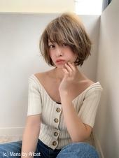 【添田】ヘルシーレイヤー丸みショート束感カールスタイリングs-55