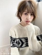 【添田】無造作カールの丸みショート大人かわいいデジタルパーマs-56