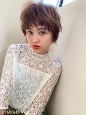 【添田】無造作カールで小顔 束感丸みショート イルミナカラーs62