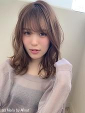 【添田】大人かわいい小顔前髪無造作カールウルフイルミナカラーs-64