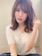 【添田】大人可愛い無造作カールイルミナカラーミディアムs-68