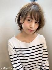 【添田】耳掛け丸みショート大人かわいいイルミナカラー3Dカラーs-70
