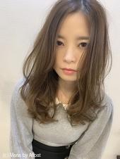 【添田】無造作カールロングデジタルパーマハイライトs-75