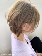 アフロート添田】小顔なひし形ショート透明感アッシュs-67