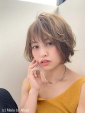 アフロート添田】大人かわいい束感ひし形小顔ショート