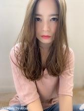添田】透明感カラー大人かわいい束感ロングs-96