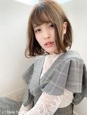 添田】大人かわいいフレンチボブ ミディ ネイビーカラー 128