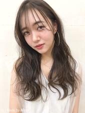 宮下☆シースルーバングおくれ毛波ウェーブモテ髪デジタルパーマ
