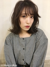 「鎌倉スタイル」韓国風重めロブ外ハネシースルーバング28