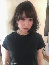 夏髪 フェミニングレージュボブ