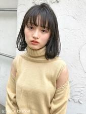 シンプルな小顔ワンカールボブ シアーカラー【N-166】