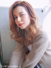 かきあげウェーブヘア 外国人風カラー【N-171】