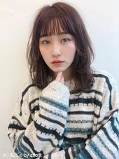 ひし形小顔ミディアム シースルーバング【K_57】