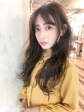 前髪伸ばしかけ(長め)ゆるウェーブデジタルパーマA839