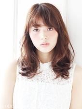 2015 夏 鉄板スタイルシースルーバングのセミディ【N-309】