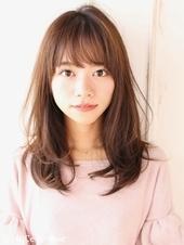 ひし形レイヤーミディアムヘア【H-645】