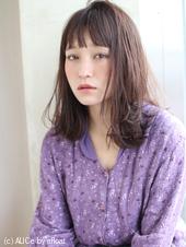外ハネレイヤーロブ♡ラベンダーブラウン【y−398】