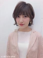 外ハネ フェミニン ショートボブ【yー463】