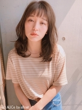 顔まわりレイヤー 重軽ミディ【y−474】