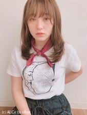 内巻きワンカール  小顔ミディ【y−488】